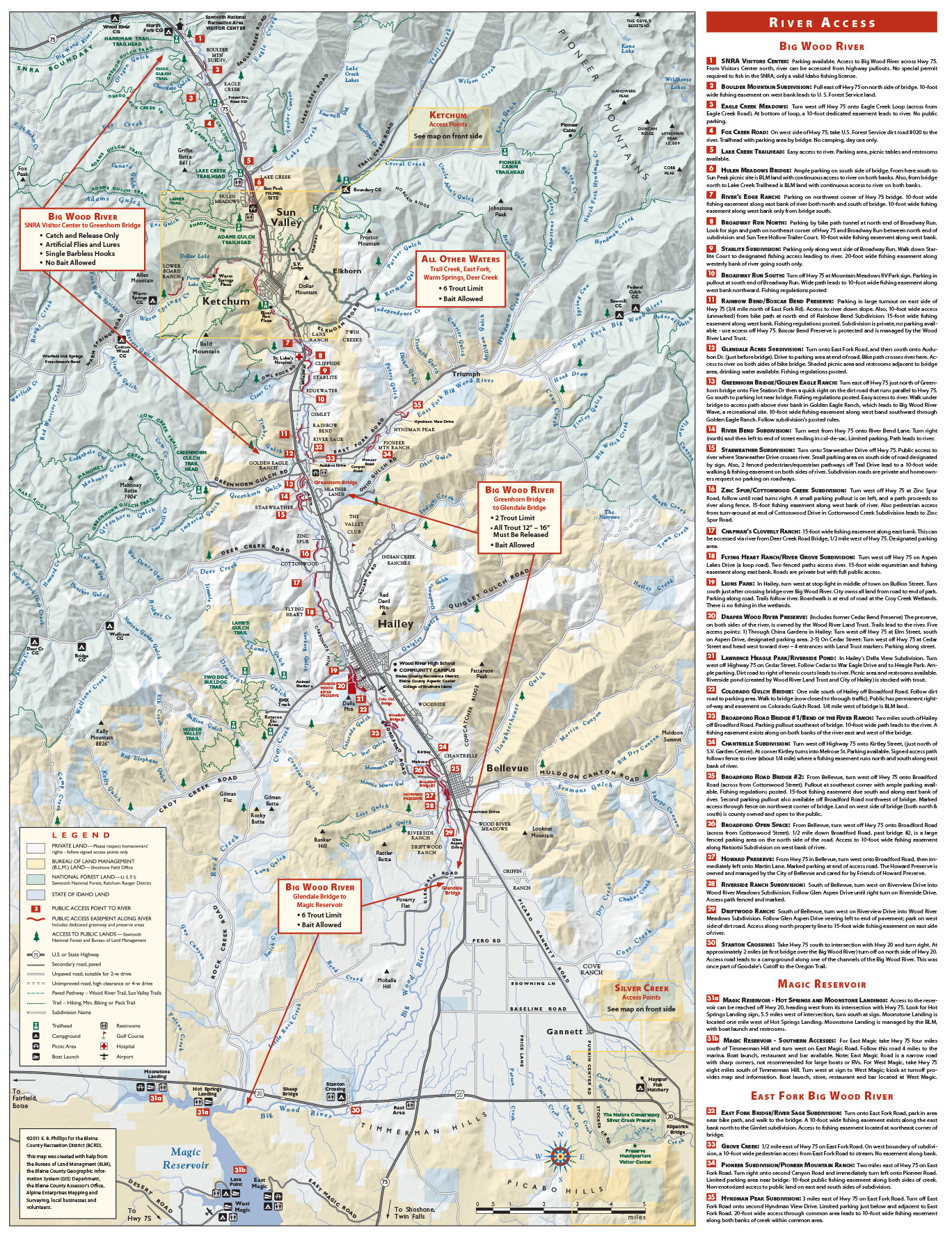 Silver Valley Idaho Map.River Access Maps Silver Creek Outfitters